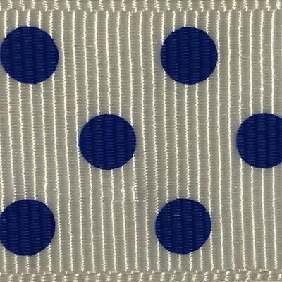 White/Royal Dots