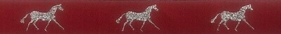 Horse Binding- Red/ Silver Horse