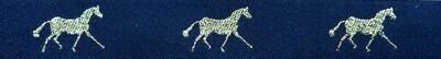 Horse Binding- Navy/Gold Horse