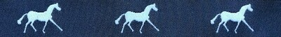 Horse Binding- Navy/White Horse