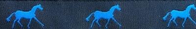 Horse Binding- Navy/Aegean Horse