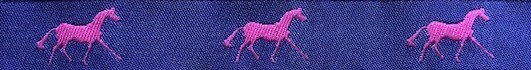 Horse Binding- Purple/ Pink Horse