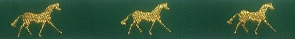 Horse Binding- Green/Gold Horse