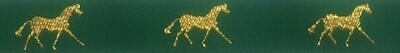 Horse Binding- Green/Gold Horse