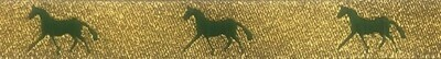Horse Binding- Gold/ Green Horse