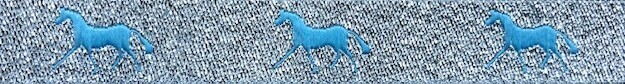 Horse Binding- Silver/Turquoise Horse
