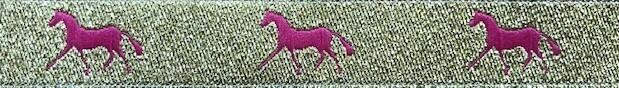 Horse Binding- Gold/Pink Horse