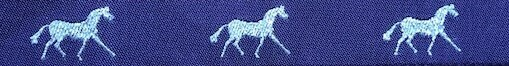 Horse Binding- Purple/ Silver Horse