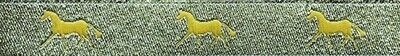Horse Binding- Metallic Gold/ Gold Horse
