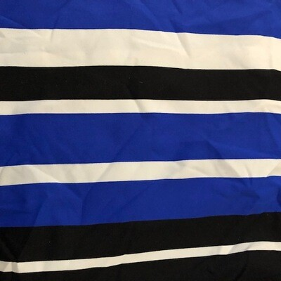Royal/Black/White Stripe