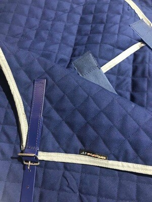 5'9 Quilted Paddock Rug (Lightweight) with Belly Warmer