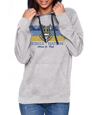 Gray and Navy Hoodie