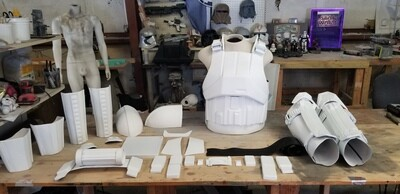White ABS tank driver/commander style costume armor kit