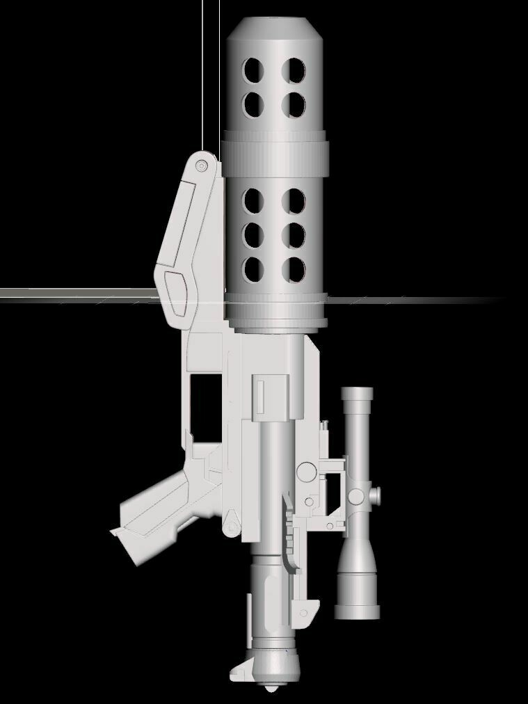 Hand Cannon Blaster 3D Model File