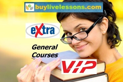 BUY 350 EXTRA GENERAL LIVE LESSONS FOR 30 MINUTES EACH