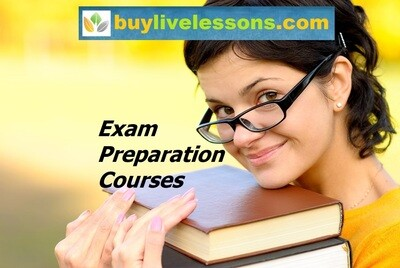 BUY 5 EXAM PREPARATION LIVE LESSONS FOR 60 MINUTES EACH.