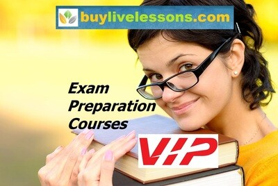 BUY 60 VIP EXAM PREPARATION LIVE LESSONS FOR 30 MINUTES EACH.