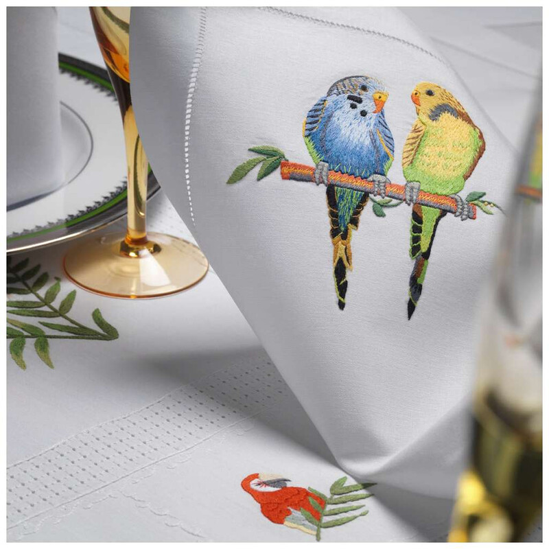 RN Renaissance 100% Linen Tablecloth,Nature Inspiration