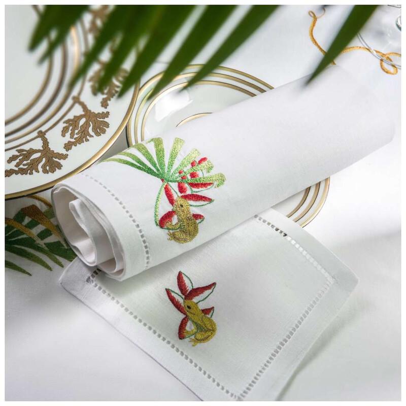 RN Renaissance Paris 100% Linen Tablecloth,Nature Inspiration