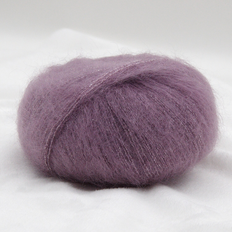 Silk mohair LUX  (78% супер кидмохер/ 14% шелк/ 4% полиамид/ 4% полиэстр) 210м/25гр