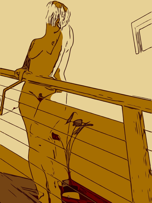 On The Stairs, Alternate Colourway