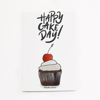 Psalms 139:14 - Happy Cake Day Card
