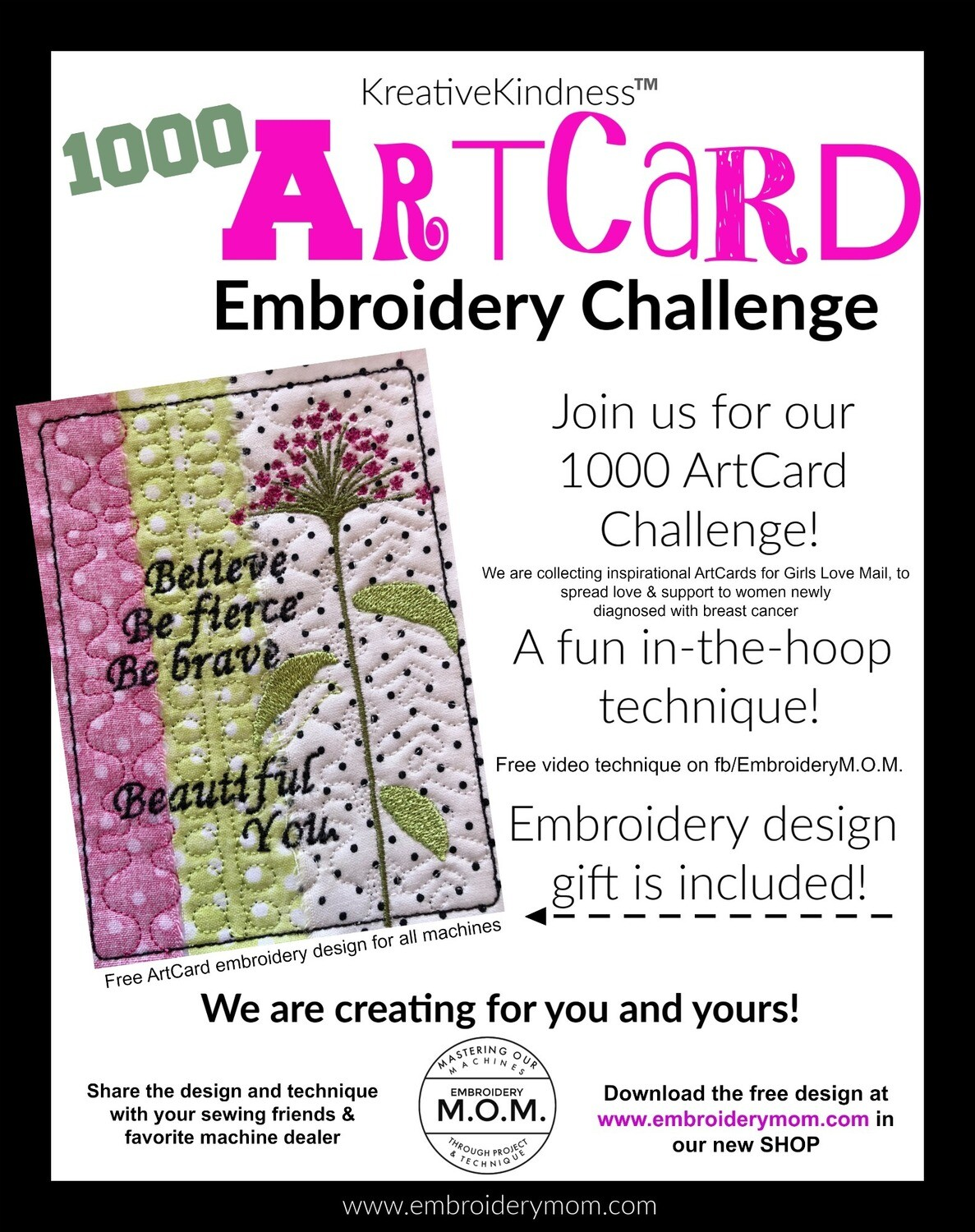 ARTCard Embroidery Project & Design