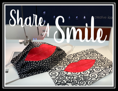 Share a Smile Applique Embroidery Design