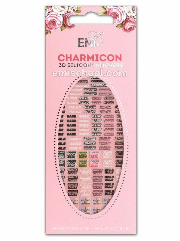 Charmicon 3D Silicone Stickers #88 Words