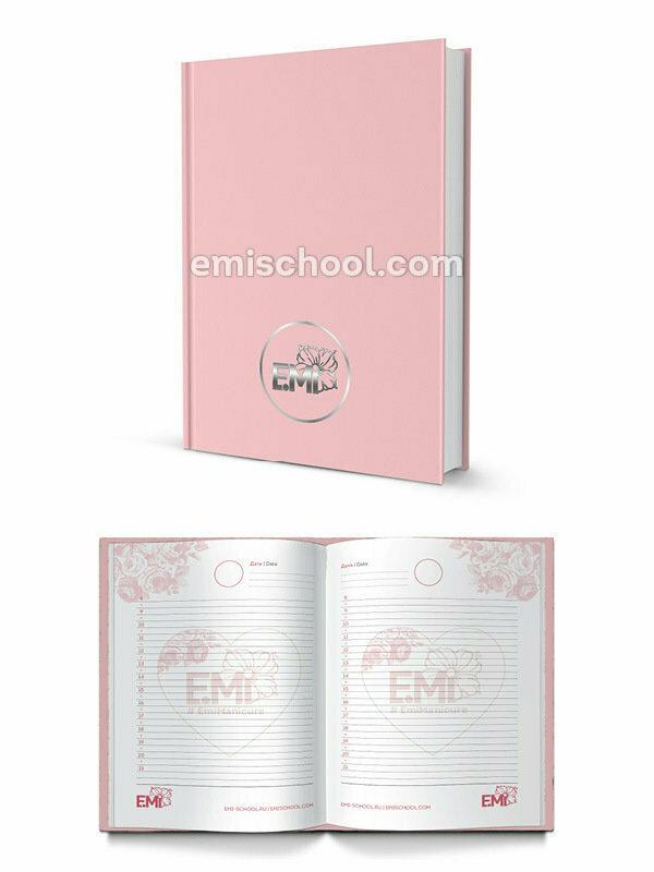 E.Mi Logo Pink Day Planner