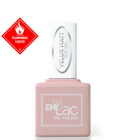 E.MiLac Velour Matte Top Gel, 9 ml.