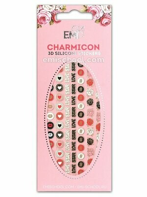 Charmicon 3D Silicone Stickers #58 Icons