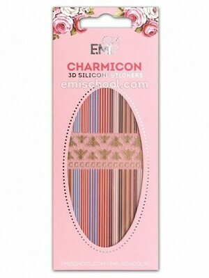 Charmicon 3D Silicone Stickers #89 Lines