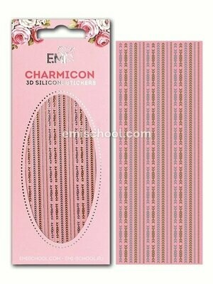 Charmicon 3D Silicone Stickers Chain #4, Gold/Silver