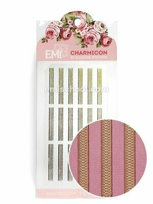 Charmicon 3D Silicone Stickers Lace, Gold