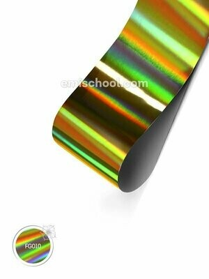 Holographic Foil- Gold Transverse Stripes