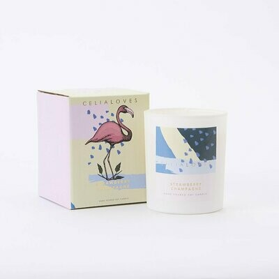 Soy Candle - Strawberry Champagne