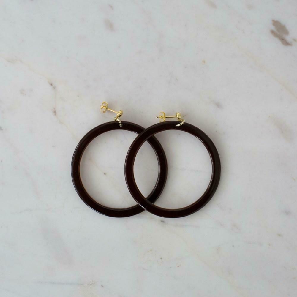 Hoop Stud Earrings - Bramble