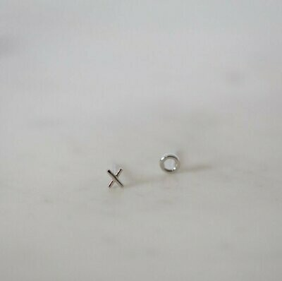 Ex Oh Stud Earrings - Sterling Silver