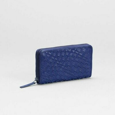 Bonna Zip Around Wallet - Iris Blue