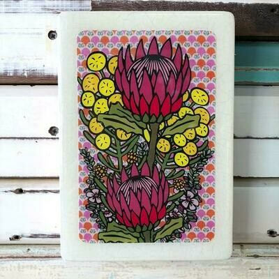 Medi Woodblock - Wildflower Bunch
