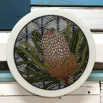 Roundy Woodblock - Banksia Hookeriana