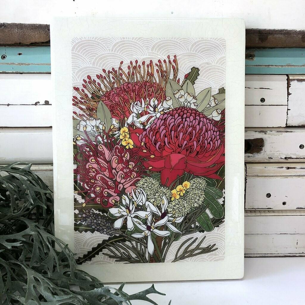 Maxi Woodblock - Native Bloom