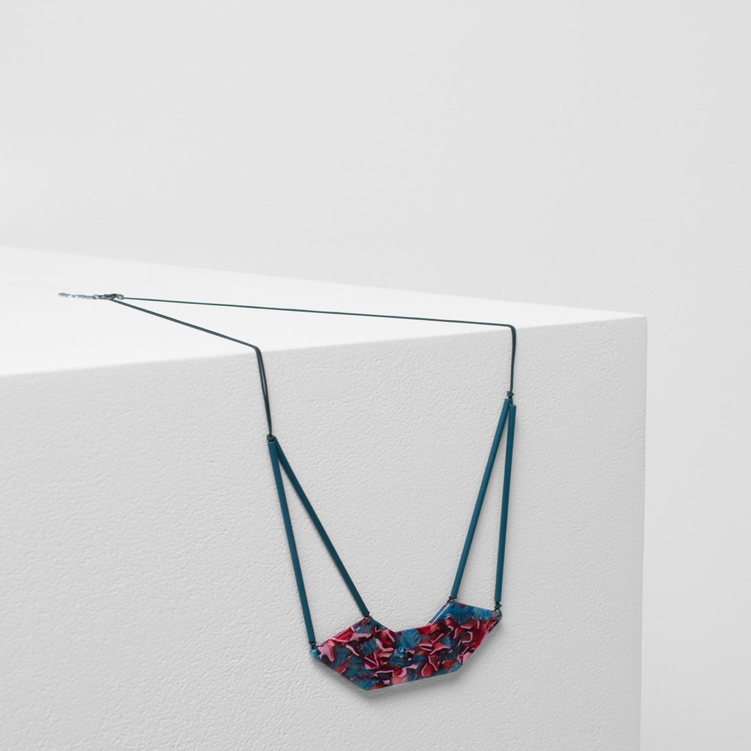 Heden Necklace with Multi Coloured Resin