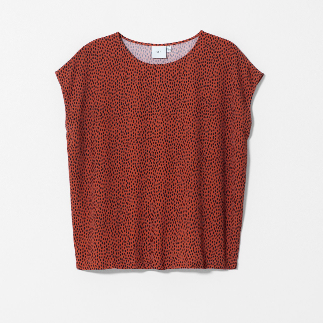 Oens Top - Copper/Navy