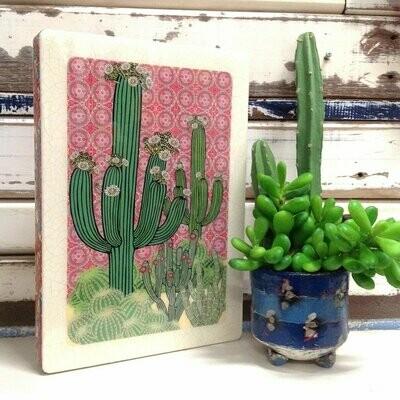 Maxi Woodblock - Saguaro Cactus