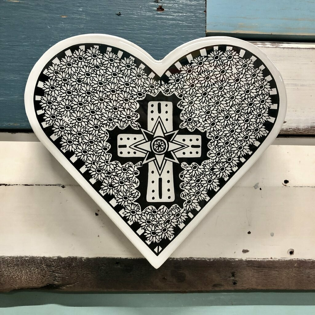 Heart Woodblock - Opulent Cross
