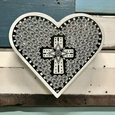 Heart Woodblock - Opulent Cross