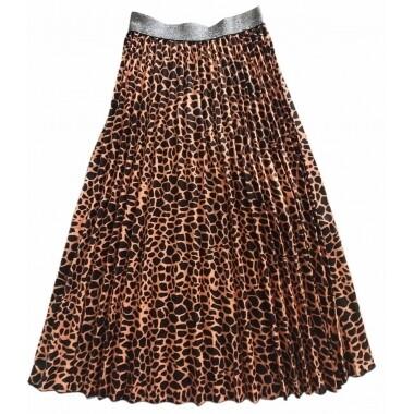 Pleated Skirt - Black Animal - One Size