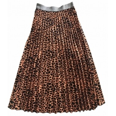 Pleated Skirt - Black Animal - One Size